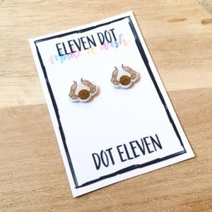 Golden Snitch Doodle Harry Potter Stud Earrings